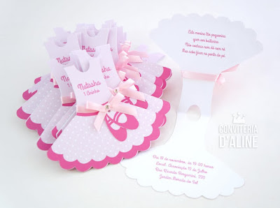 convite festa bailarina rosa
