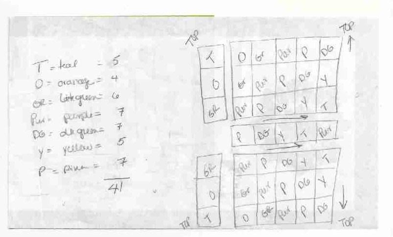 8 squares purse diagram