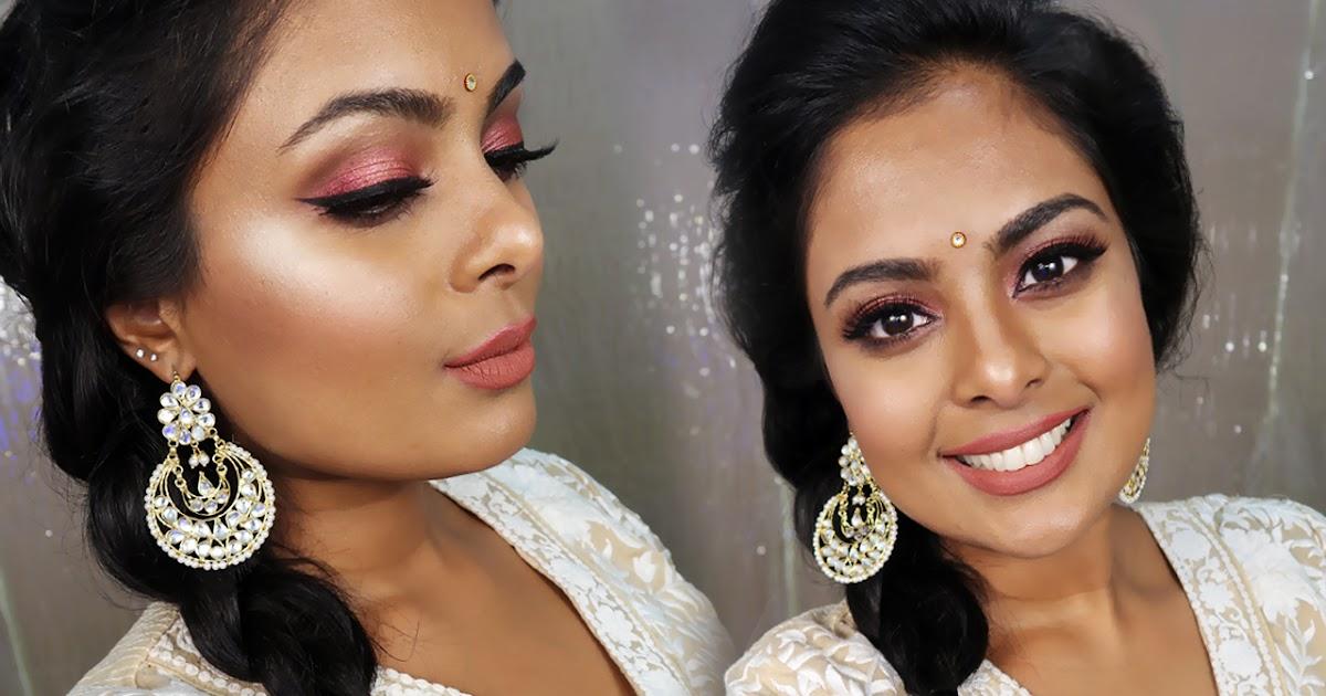 Indian Wedding Guest Makeup Tutorial - Metallic Rose Gold ...