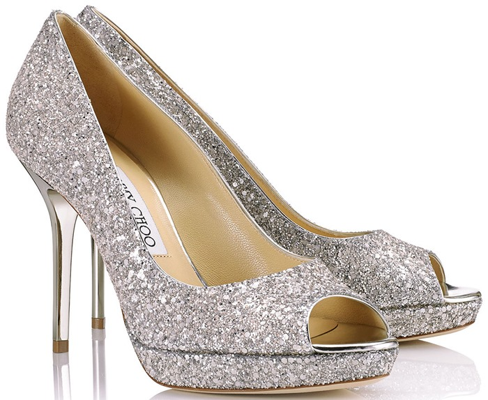 3d19a7d54be JIMMY CHOO Silver Wedding Shoes -4