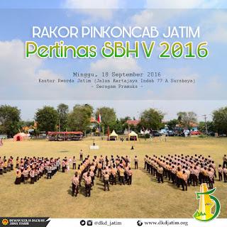 Rakor Pinkoncab Jatim Pertinas SBH V 2016