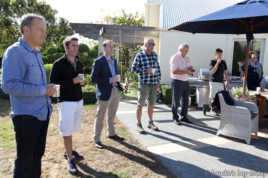 ACT party leader David Seymour speaking to Pure Hawke's Bay about being GM-free, at Mike Russell's property near Bridge Pa, Hastings. photograph