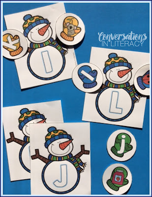 Snowman ABC Letter identification and matching