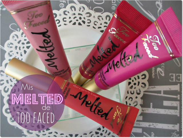 Mis MELTED de TOO FACED: Swatches & Review