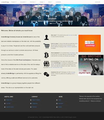 Underbridge situs toko online di dalam deep web