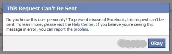 cant add friend on facebook