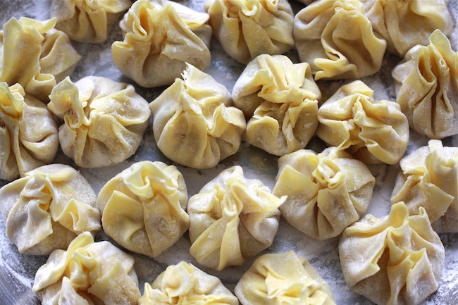 How to wrap wontons by SeasonWithSpice.com