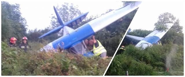 zdjęcie: Wypadek samolotu w bielskich Aleksandrowicach