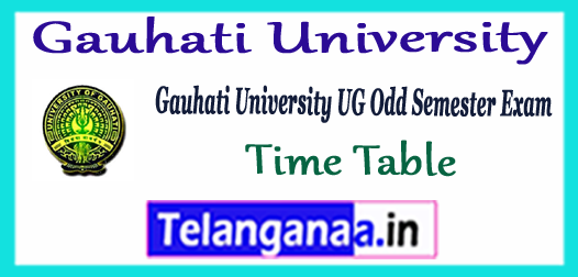 Gauhati University UG 1st 3rd 5th Semester Exam Time Table 2017-18