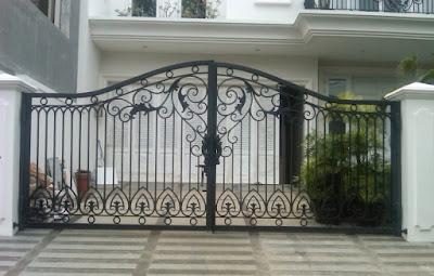 gambar pagar rumah mewah terbaru
