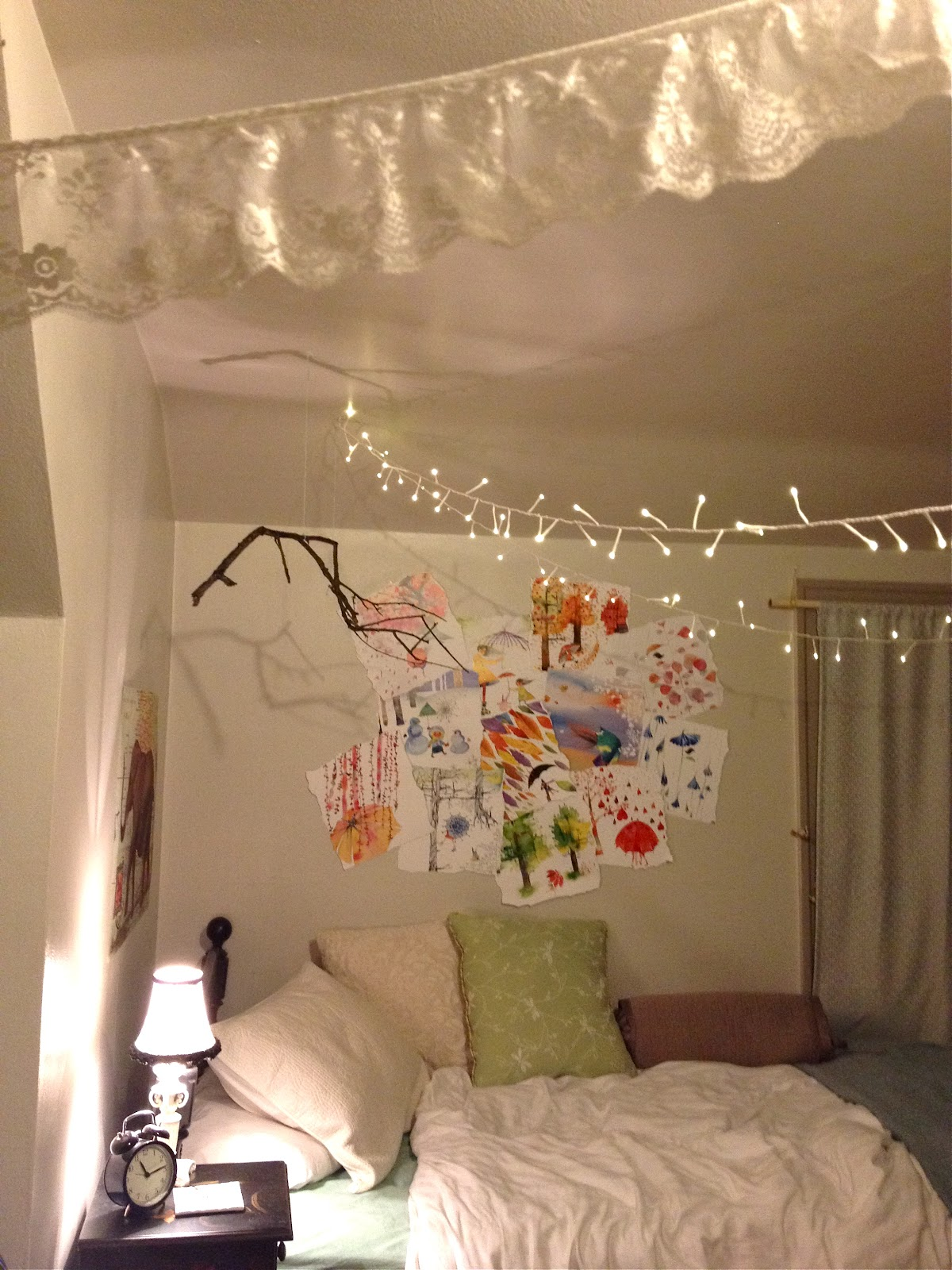 Courtney lane my seattle home part 1 details of my bedroom - String lights for bedroom ...