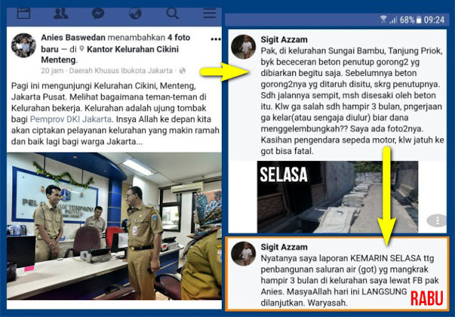 Warga Surprise Mengadu Kondisi Jalan Lewat Fb Anies Baswedan, Langsung Direspon Cepat