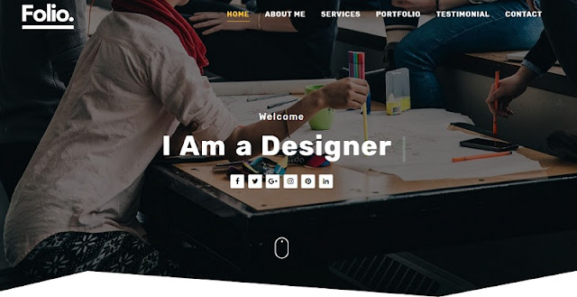 Folio theme for blogger