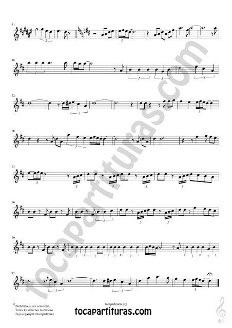 Hoja 2 de 2 Soprano Sax y Saxo TenorHoja 1 de 2  Partitura de Yo le seguiré (I will follow him) Sheet Music for Soprano Sax and Tenor Saxophone Music Scores