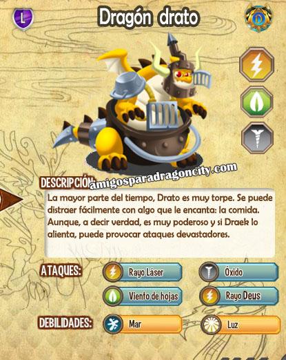 imagen de las caracteristicas del dragon drato