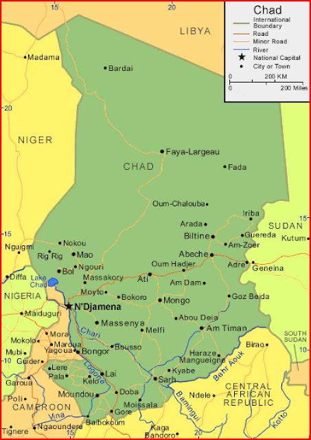 Gambar Peta Chad