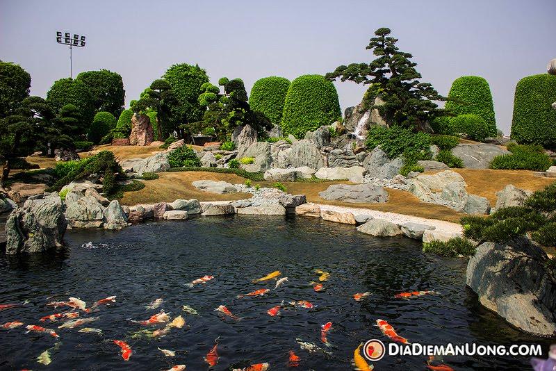 Tham quan Công Viên Cá Koi Rin Rin Park tại - Vườn Nhật Bản cực đ4ã
