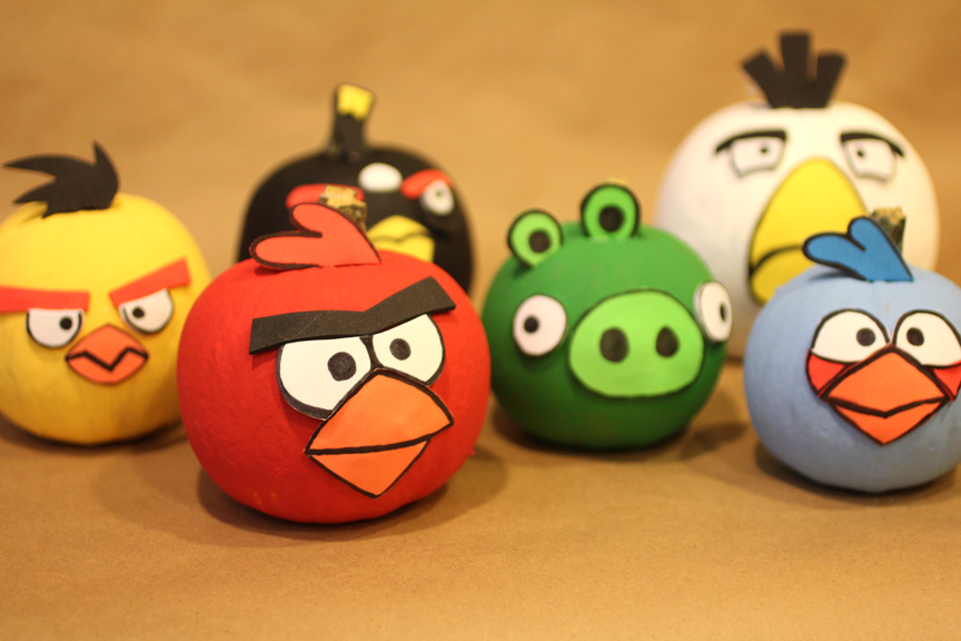 Angry Birds Pumpkins - Repeat Crafter Me
