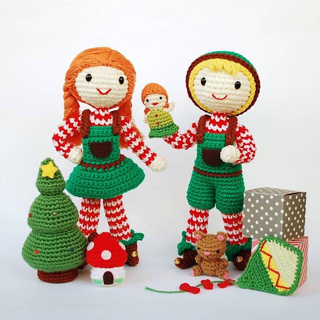 elfo-elfa-amigurumi-ganchillo-patrón-navidad