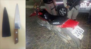 Polícia recupera produtos roubados na área de São Vicente do Seridó