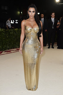 Kim Kardashian met gala gold dress (2018)