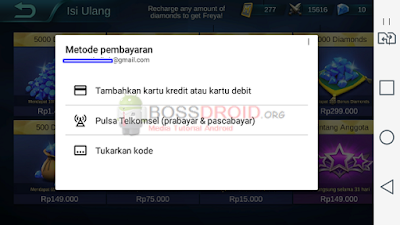 Cara Beli Diamond Game Mobile Legends dengan Pulsa