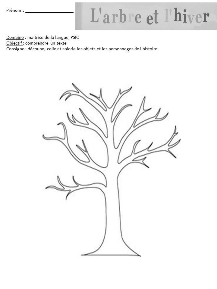 Le livre de sapienta l 39 arbre et l 39 hiver exploitation ms - Arbre a colorier ...
