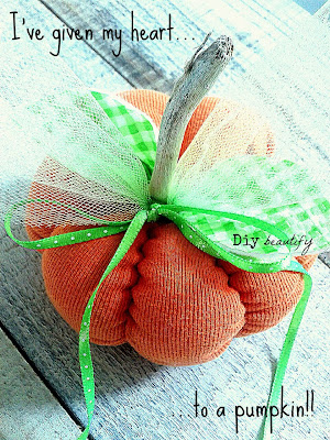 How to make a pumpkin from a sweater or a shirt www.diybeautify.com
