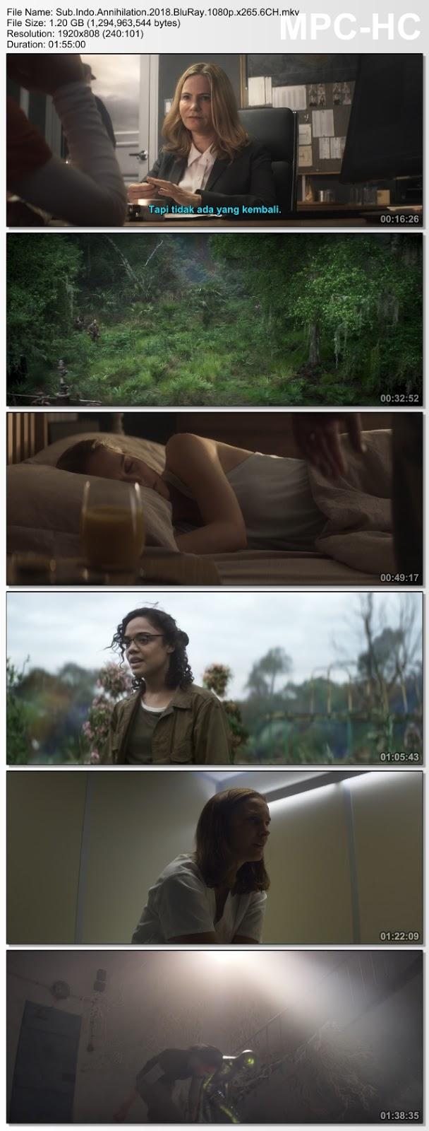 Screenshots Download Film Gratis Annihilation (2018) BluRay 480p MP4 Subtitle Bahasa Indonesia 3GP