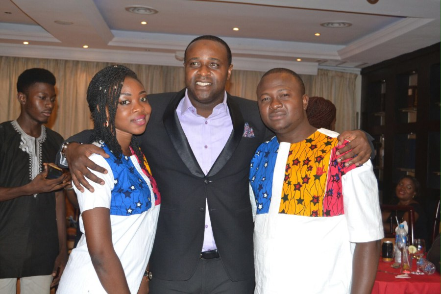 femi adebayo hosts couple valentine's day party