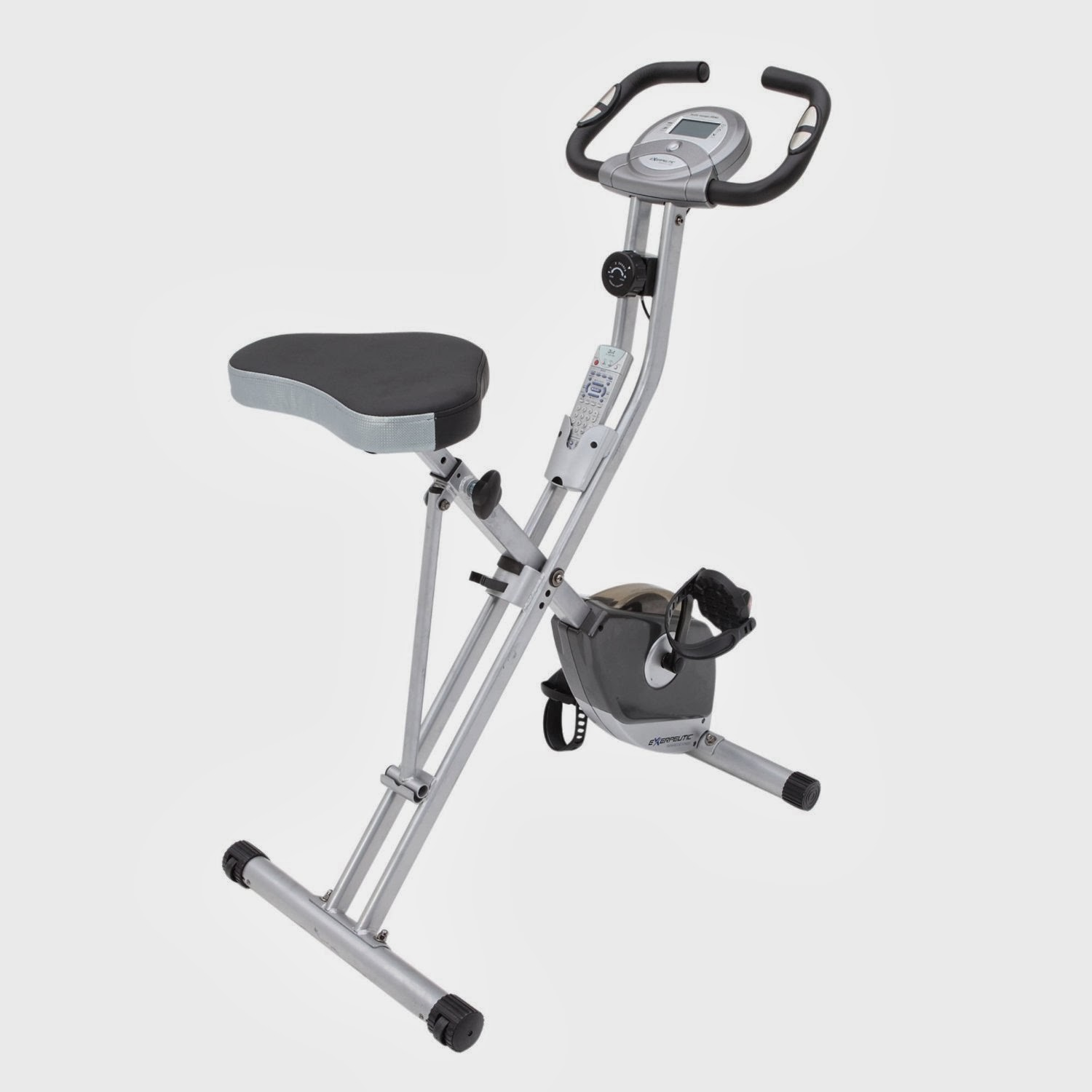 Buy the high rated, low priced Exerpeutic Folding Magnetic Upright Exercise Bike with Pulse, amazing value, packed with features, for all ages and fitness levels
