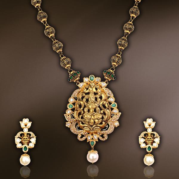 New Temple Jewellery Designs Sudhakar Gold Works