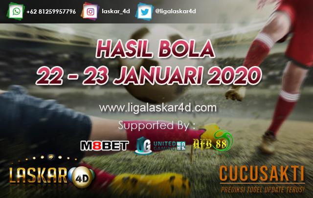 HASIL BOLA JITU TANGGAL 22 – 23 JANUARI 2020
