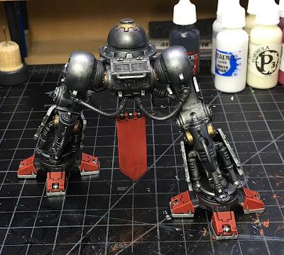 House Taranis Questoris Mechanicus Knight Paladin WIP legs, back