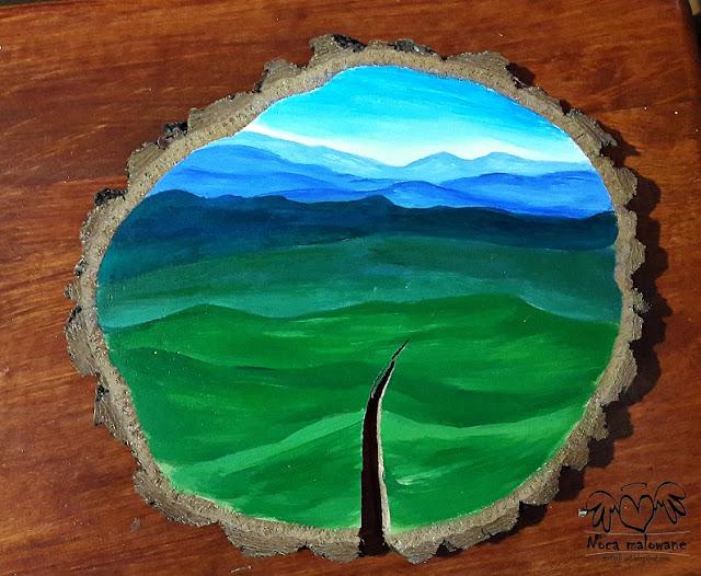 Drzewo na pękniętym plastrze