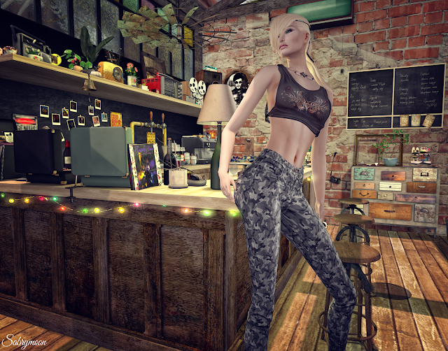 FashionNatic Pamenia Skinny Pants and Chemical Princess Mini Top @ Suicide Dollz