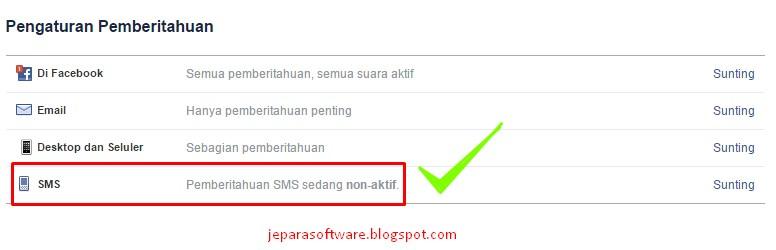 cara berhenti sms facebook 32665 AG