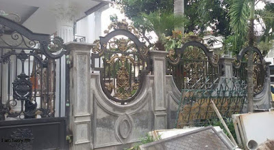 pagar  untuk rumah semi klasik