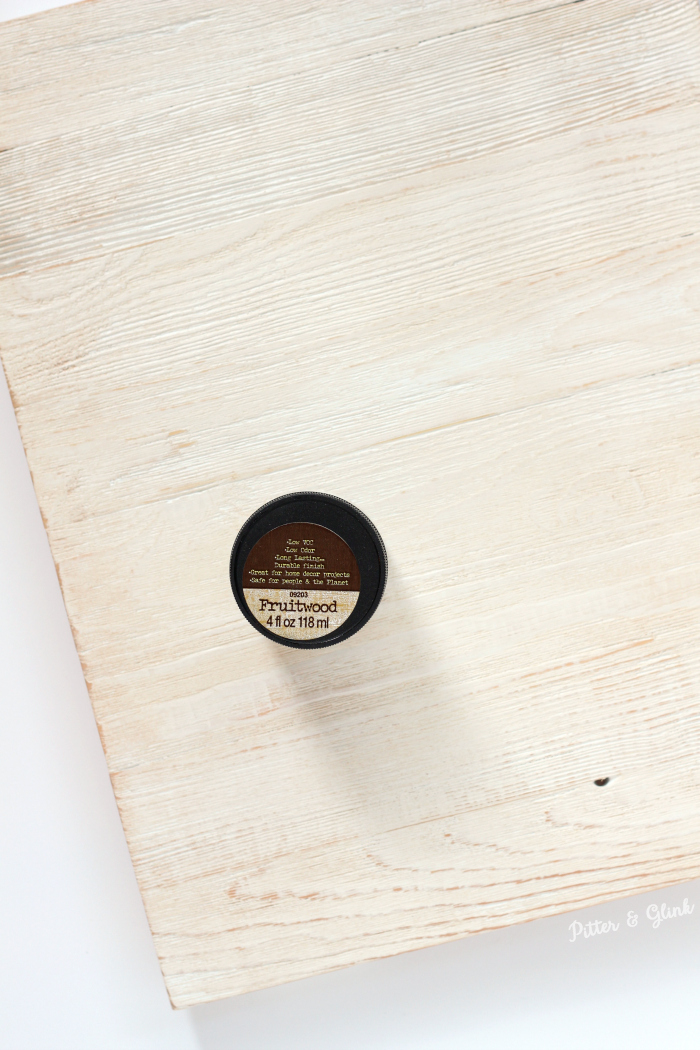 Cover White Paint with Stain for Weathered Look