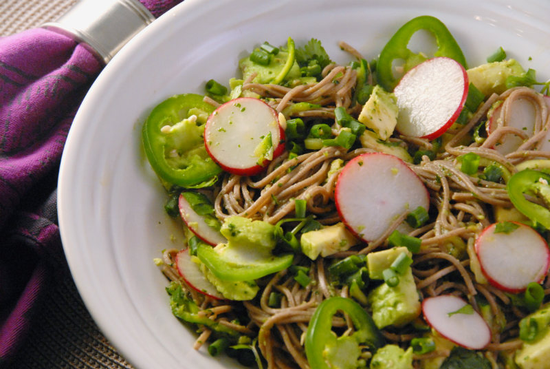 Soba and Zucchini Zoodle Noodle Salad The Savvy Spoon