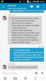 Testimoni dari konsumen pengguna Pynocare White