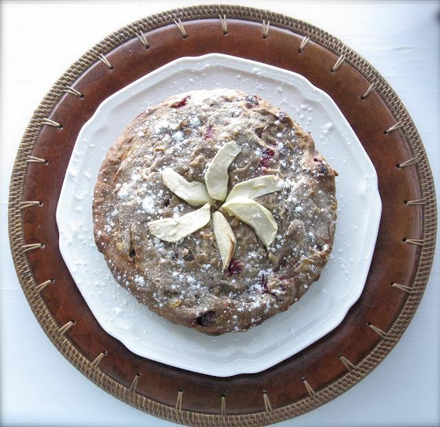 gluten free cranberry tea cake