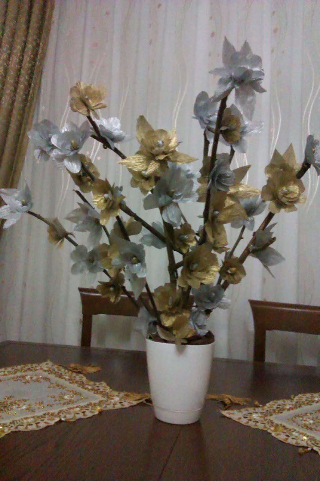 Kağıttan Saksı Çiçeği Yapımı