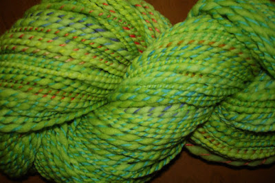 Makers' Monday celebration of St. Patrick's Day green yarn