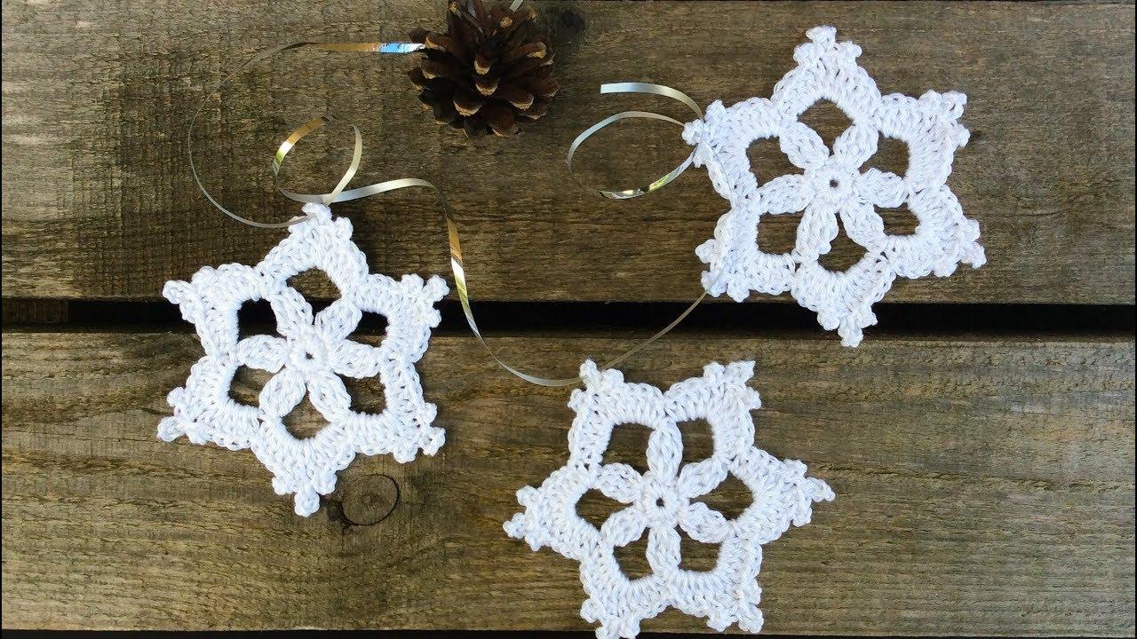 Kristinescrochets Easy Crochet Ornament Snowflake Free Pattern