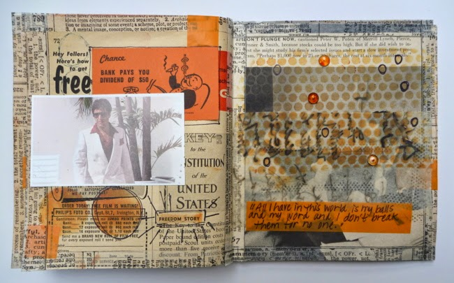 Handmade Scarface Mini Album Inner Page Al Word by Dana Tatar