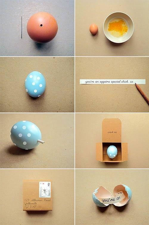 diy huevo con mensaje dentro para regalar en pascuas semana santa happy easter