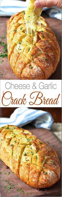 Cheese And Garlic Crack Bread