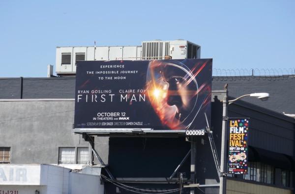 First Man film billboard