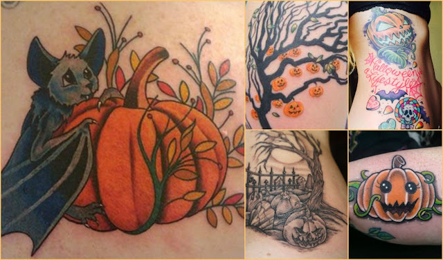 Halloween-themed tattoos, pumpkin tattoos